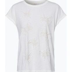 Marc Cain Collections - T-shirt damski, beżowy. Brązowe t-shirty damskie Marc Cain Collections, z haftami. Za 499,95 zł.
