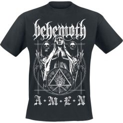 Behemoth Amen T-Shirt czarny. Czarne t-shirty męskie z nadrukiem Behemoth, m, z okrągłym kołnierzem. Za 74,90 zł.