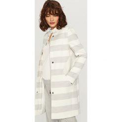 Płaszcze damskie: Pudełkowy płaszcz paski – Wielobarwn