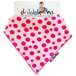 Xkko Śliniaczek Dribble Ons Pink Spot. Różowe śliniaki Xkko, z bawełny. Za 32,00 zł.
