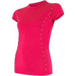 Sensor Koszulka Termoaktywna Merino Air W Magenta L. Czerwone bluzki sportowe damskie Sensor, l, z materiału, z krótkim rękawem. Za 195,00 zł.