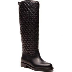 Oficerki TRUSSARDI JEANS - 79A002719 K299. Czarne buty zimowe damskie Trussardi Jeans, z jeansu, przed kolano, na wysokim obcasie. Za 979,00 zł.