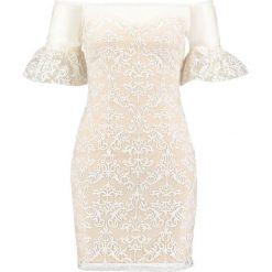 Sukienki: Missguided BARDOT FRILLED BODYCON Sukienka koktajlowa ivory