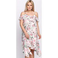 Sukienki: Biała Sukienka Horsetail