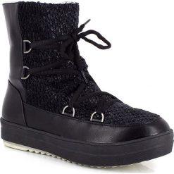 """Buty zimowe damskie: Kozaki """"Kym"""" w kolorze czarnym"""