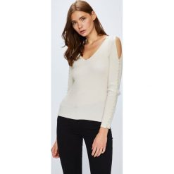 Guess Jeans - Sweter. Szare swetry klasyczne damskie Guess Jeans, l, z dzianiny. Za 399,90 zł.
