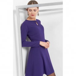 Sukienka z długim rękawem. Niebieskie sukienki dzianinowe marki Orsay, na co dzień, z długim rękawem, rozkloszowane. Za 79,99 zł.