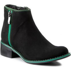 Botki MACCIONI - 273 Czarny. Czarne buty zimowe damskie Maccioni, z nubiku, na obcasie. W wyprzedaży za 299,00 zł.
