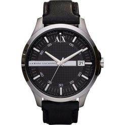 Armani Exchange Zegarek schwarz. Czarne zegarki męskie marki Armani Exchange, l, z materiału, z kapturem. Za 669,00 zł.