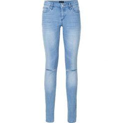 """Dżinsy Skinny push up bonprix niebieski """"bleached"""". Niebieskie rurki damskie bonprix, z jeansu. Za 109,99 zł."""