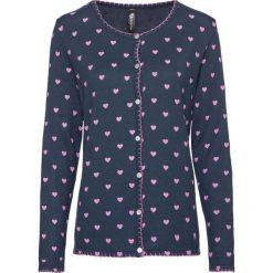 Sweter rozpinany w ludowym stylu bonprix głęboki niebieski - różowofioletowy z nadrukiem. Szare kardigany damskie marki Mohito, l. Za 79,99 zł.