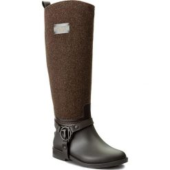 Oficerki TRUSSARDI JEANS - 79A00095 B220. Brązowe buty zimowe damskie Trussardi Jeans, z jeansu, na obcasie. W wyprzedaży za 379,00 zł.