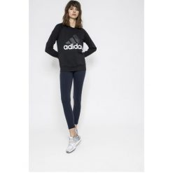 Adidas Performance - Bluza. Czarne bluzy z nadrukiem damskie adidas Performance, m, z bawełny, bez kaptura. Za 179,90 zł.