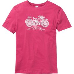 T-shirty męskie z nadrukiem: T-shirt Regular Fit bonprix różowy