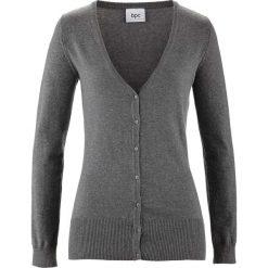 Sweter rozpinany bonprix szary melanż. Szare swetry rozpinane damskie marki bonprix, z dzianiny. Za 59,99 zł.