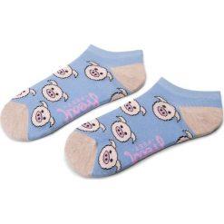 Skarpety Niskie Dziecięce FREAK FEET - JSPIG-BLP Kolorowy Niebieski. Niebieskie skarpetki męskie marki Freak Feet, w kolorowe wzory, z bawełny. Za 9,99 zł.