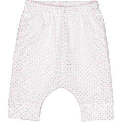 Spodnie alladynki w groszki 0 miesięcy - 3 lata. Białe spodnie dresowe dziewczęce marki La Redoute Collections, w grochy, z bawełny. Za 52,88 zł.
