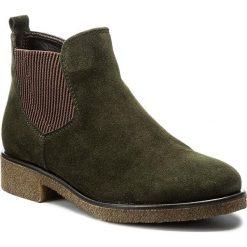 Botki GABOR - 72.701.34 Bottle. Zielone buty zimowe damskie marki Gabor, z materiału, na obcasie. W wyprzedaży za 299,00 zł.
