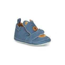 Kapcie niemowlęce Dziecko  Shoo Pom  CHOU TEDDY BOY. Niebieskie kapcie chłopięce Shoo Pom. Za 118,30 zł.