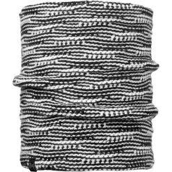 Szaliki męskie: Buff Komin Neckwarmer Buff Knitted Comfort Kirvy Black kolor biało-czarny, roz. 50×22 (BUF113545.999.10.00)