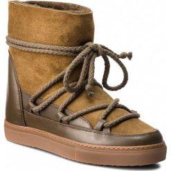 Buty INUIKII - Sneakes Classic 70203-5 Olive. Zielone buty zimowe damskie Inuikii, ze skóry. Za 1129,00 zł.