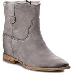 Botki CARINII - B4125/L J51-000-000-B89. Szare buty zimowe damskie Carinii, z materiału. W wyprzedaży za 169,00 zł.