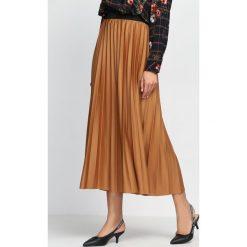 Długie spódnice: Brązowa Spódnica Please Secret