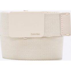 Calvin Klein Jeans - Pasek. Szare paski męskie marki Calvin Klein Jeans, w paski, z bawełny. W wyprzedaży za 119,90 zł.