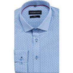 Koszula SIMONE slim KDWS000402. Czarne koszule męskie na spinki marki Premium by Jack&Jones, l, z bawełny, z włoskim kołnierzykiem, z długim rękawem. Za 149,00 zł.