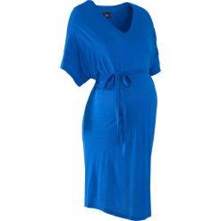 Tuniki damskie: Tunika shirtowa ciążowa bonprix lazurowy