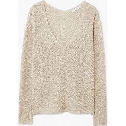 Mango - Sweter Mirror. Szare swetry klasyczne damskie marki Mango, l, z dzianiny. W wyprzedaży za 59,90 zł.