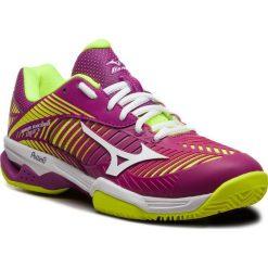 Buty MIZUNO - Wave Exceed Tour 3 Cc 61GC187567 Fioletowy Żółty. Czerwone buty do tenisu damskie marki Mizuno. W wyprzedaży za 409,00 zł.