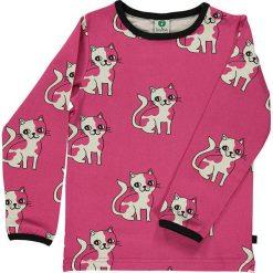 Koszulka w kolorze różowym. Białe bluzki dziewczęce z długim rękawem marki UP ALL NIGHT, z bawełny. W wyprzedaży za 75,95 zł.