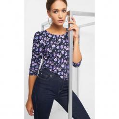 Koszulka z marszczonym rękawem. Czarne t-shirty damskie marki Orsay, xs, z bawełny, z dekoltem na plecach. Za 49,99 zł.