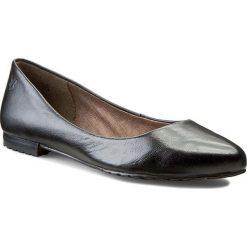 Baleriny CAPRICE - 9-22107-25  Black Nappa 022. Czarne baleriny damskie Caprice, ze skóry, na obcasie. W wyprzedaży za 169,00 zł.