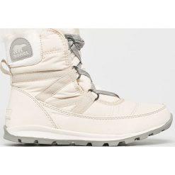 Sorel - Śniegowce Whitney Short Lace. Szare śniegowce damskie Sorel, z kauczuku. Za 529,90 zł.