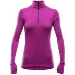 T-shirty damskie: Devold Koszulka Damska Expedition Woman Zip Neck Fuchsia M
