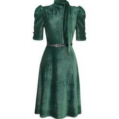 Voodoo Vixen Penelope Velvet Dress Sukienka zielony. Zielone sukienki Voodoo Vixen, xl, ze sztruksu. Za 264,90 zł.