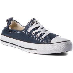 Trampki CONVERSE - Ct Shoreline Slip 537080C Athletic Navy. Niebieskie tenisówki męskie Converse, z gumy. W wyprzedaży za 149,00 zł.
