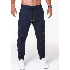 SPODNIE MĘSKIE JOGGERY P706 - GRANATOWE. Niebieskie joggery męskie Ombre Clothing. Za 99,00 zł.