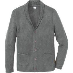 Sweter rozpinany Regular Fit bonprix szary melanż. Szare kardigany męskie marki bonprix, l, melanż. Za 89,99 zł.