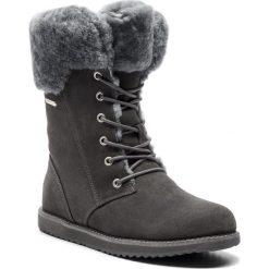 Śniegowce EMU AUSTRALIA - Shoreline W11249 Charcoal/Anthracite. Szare buty zimowe damskie EMU Australia, ze skóry. Za 859,00 zł.