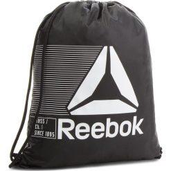 Plecak Reebok - Act Fon Gymsack CE0944 Black. Czarne plecaki męskie Reebok, z materiału, sportowe. Za 49,95 zł.