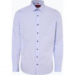 Finshley & Harding - Koszula męska łatwa w prasowaniu, niebieski. Czarne koszule męskie non-iron marki Finshley & Harding, w kratkę. Za 99,95 zł.
