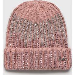 Liu Jo - Czapka. Szare czapki zimowe damskie Liu Jo, na zimę, z dzianiny. Za 219,90 zł.