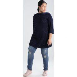 Swetry klasyczne damskie: Evans SCRIBBLE HEART Sweter navy blue