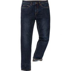 """Dżinsy ze stretchem Slim Fit Straight bonprix ciemnoniebieski """"stone used"""". Niebieskie jeansy męskie relaxed fit bonprix, moro, z jeansu. Za 139,99 zł."""
