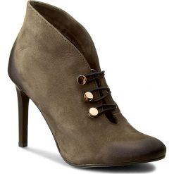 Szpilki CARINII - B3927 I43-000-000-A92. Zielone buty zimowe damskie Carinii, z materiału. W wyprzedaży za 229,00 zł.