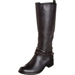 Kozaki w kolorze czarnym. Czarne buty zimowe damskie Divine Factory. W wyprzedaży za 130,95 zł.