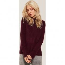 Sweter z półgolfem - Bordowy. Czerwone swetry klasyczne damskie marki House, l. Za 79,99 zł.